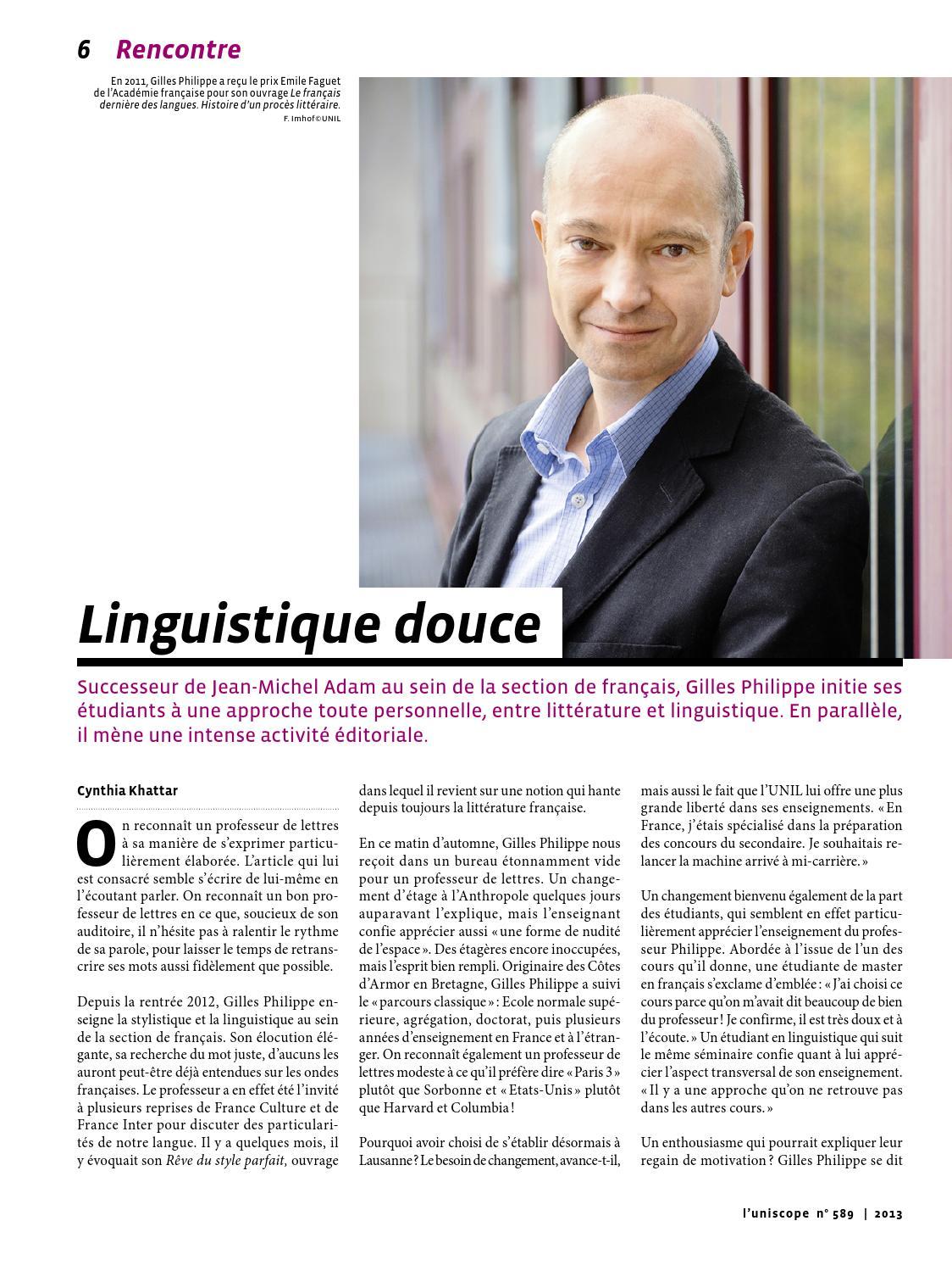 Uniscope 589 - Janvier 2014 by Université de Lausanne - issuu