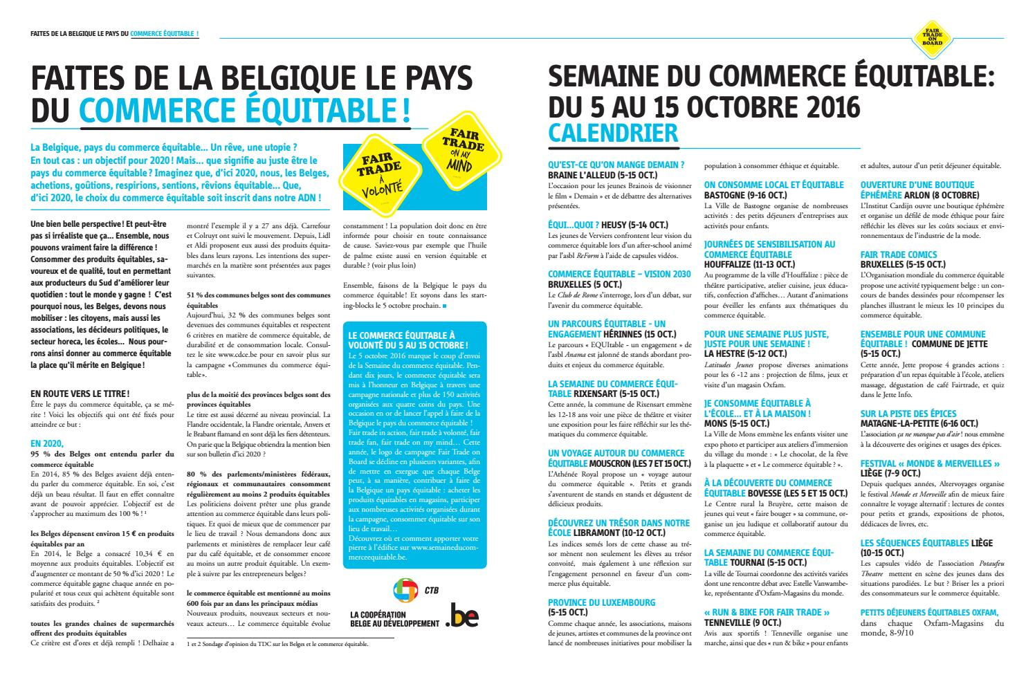 Supplément Commerce Equitable le Vif 2016