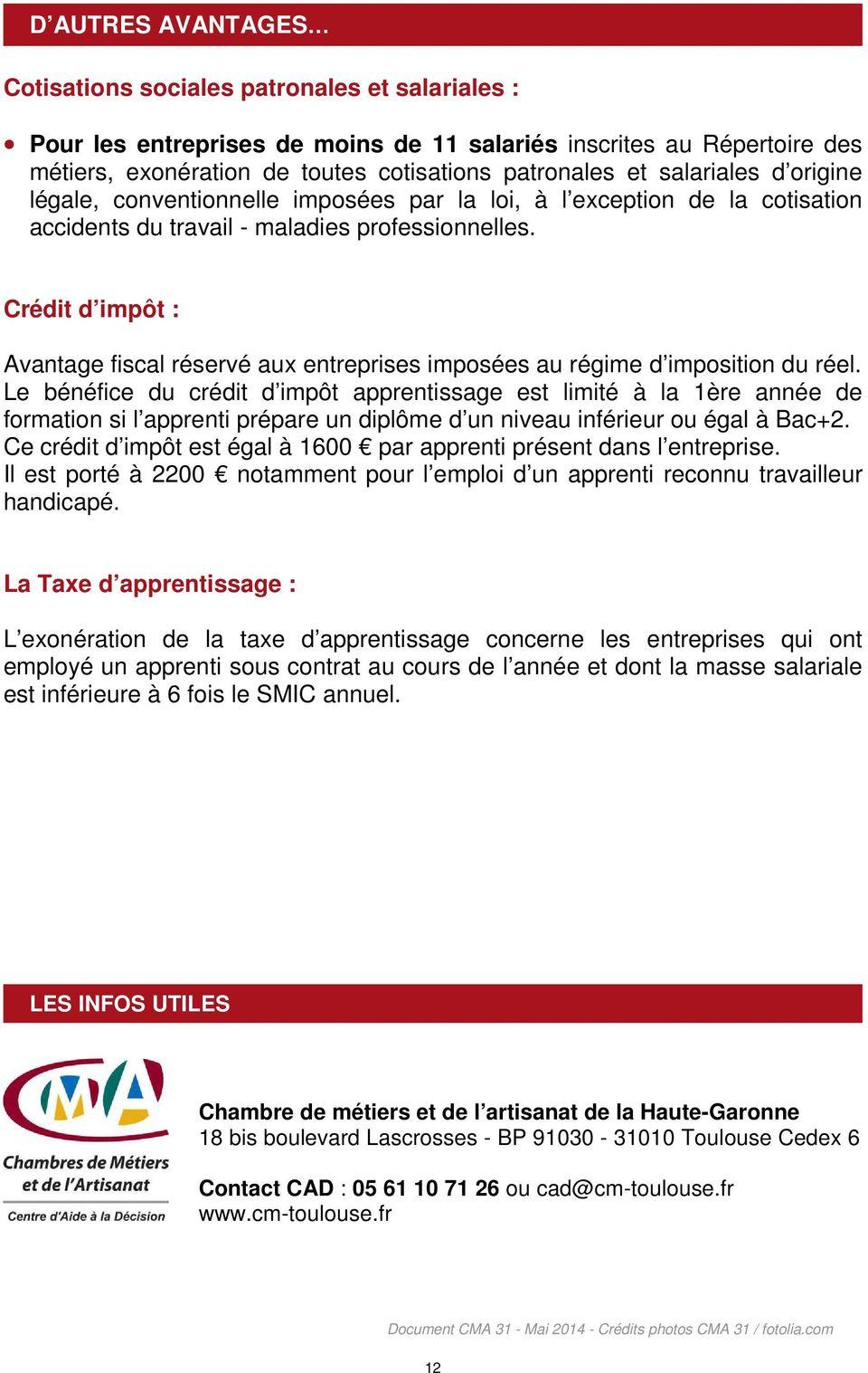 Chambre de métiers et de l artisanat de la Haute-Garonne ...