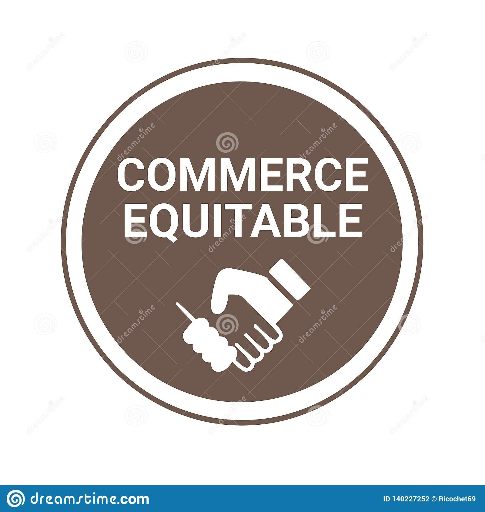Le Signe Et Le Label De Commerce équitable Ont Appelé Le ...
