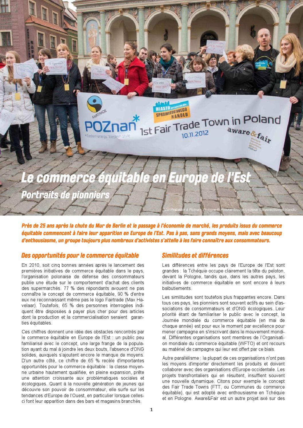 Le commerce équitable en Europe de l'Est by Trade for ...