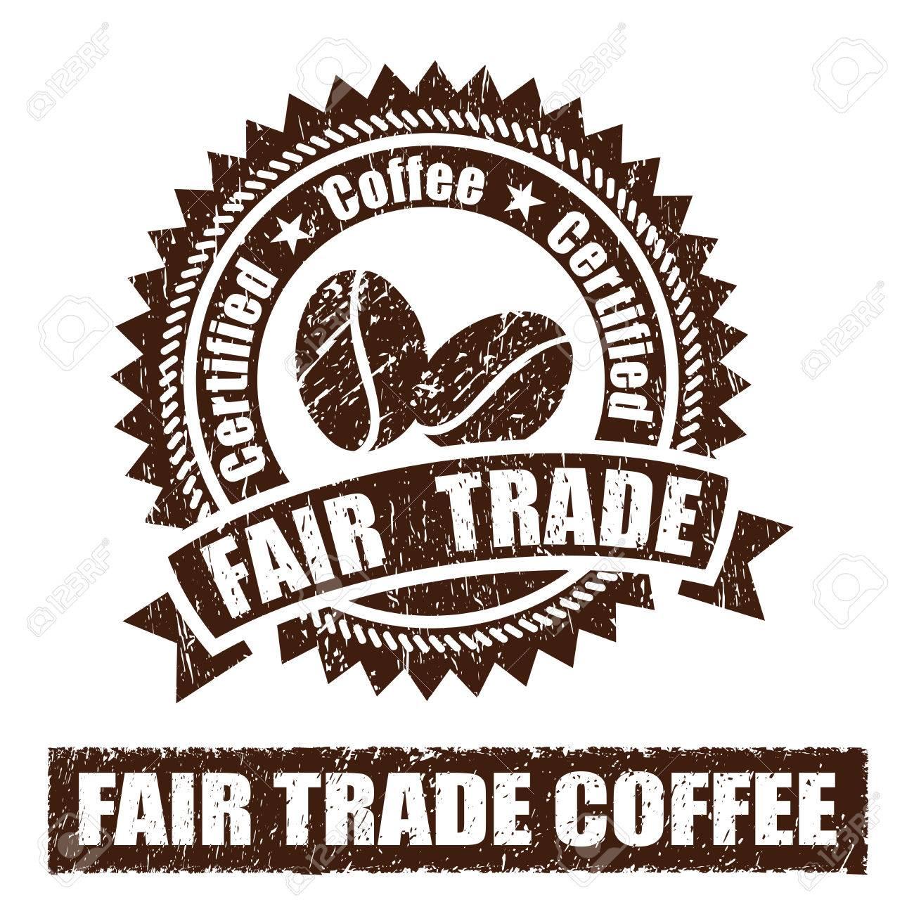 Stamp commerce équitable du café en caoutchouc