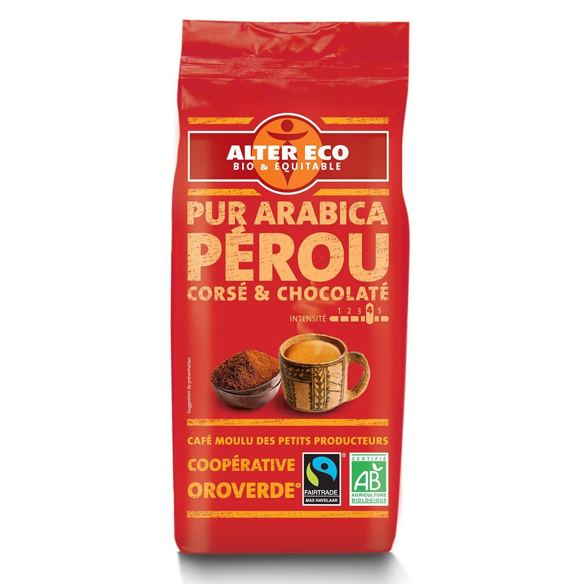 Café PÉROU Pur Arabica bio et équitable moulu