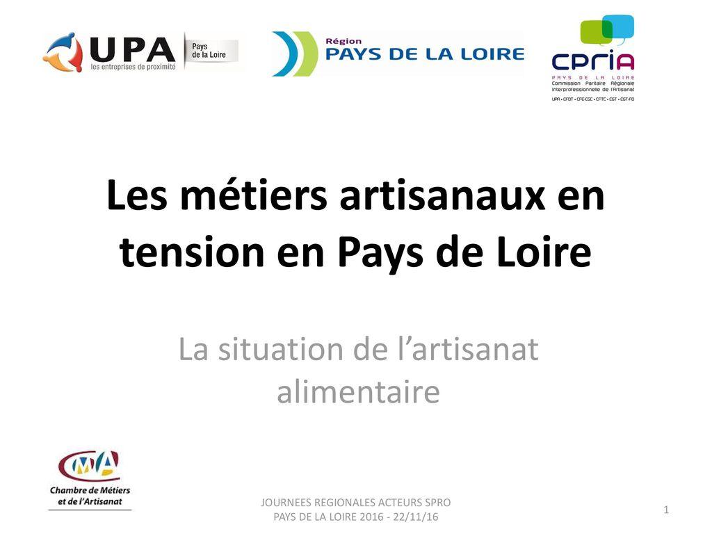 Les métiers artisanaux en tension en Pays de Loire - ppt télécharger