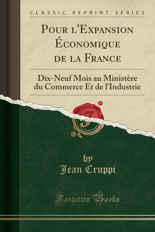 Pour l'Expansion Économique de la France: Dix-Neuf Mois Au Ministère ...