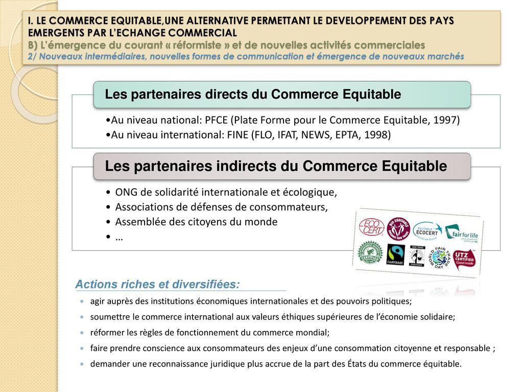 fonctionnement du commerce équitable - Artisanat et commerce ...