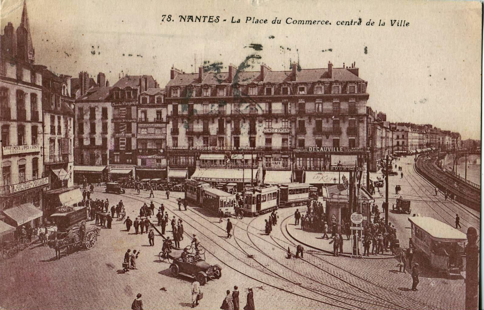 Fichier:NOZAIS 78 - NANTES - La Place du Commerce, centre de la ...