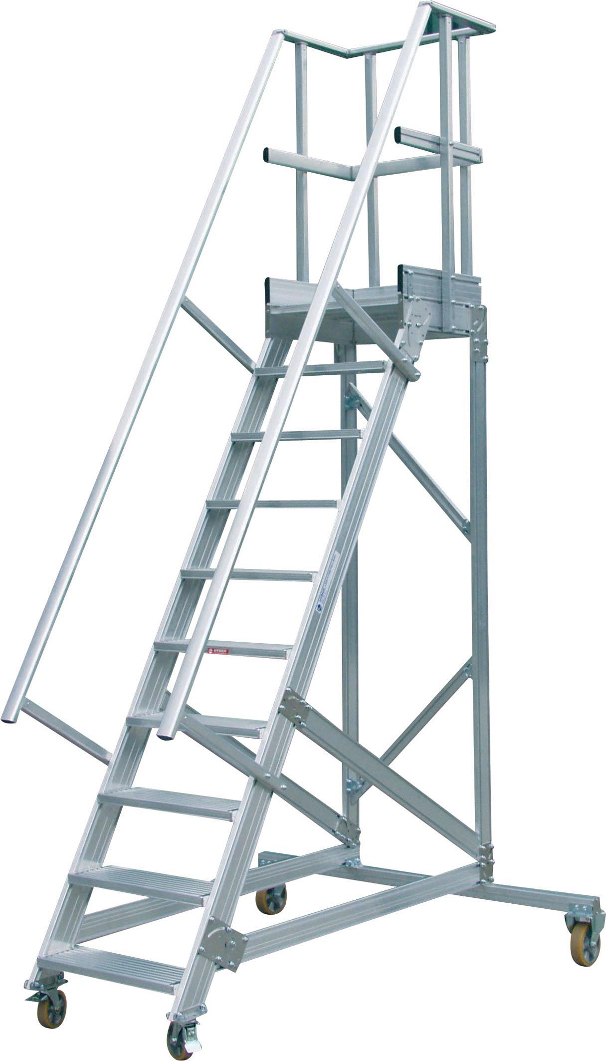 Plate-forme et escalier sur mesure en aluminium pour accés batiment ...