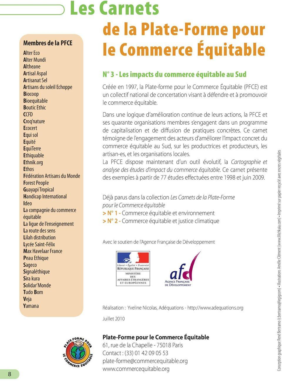 Les Carnets de la Plate-Forme pour le Commerce Équitable Les ...
