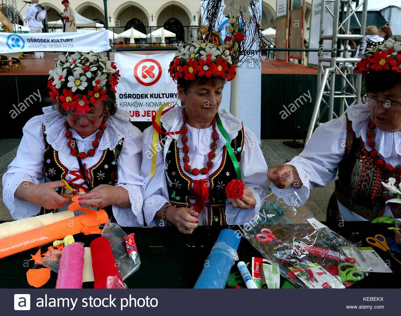 L'artisanat traditionnel, Cracovie, Pologne Banque D'Images, Photo ...