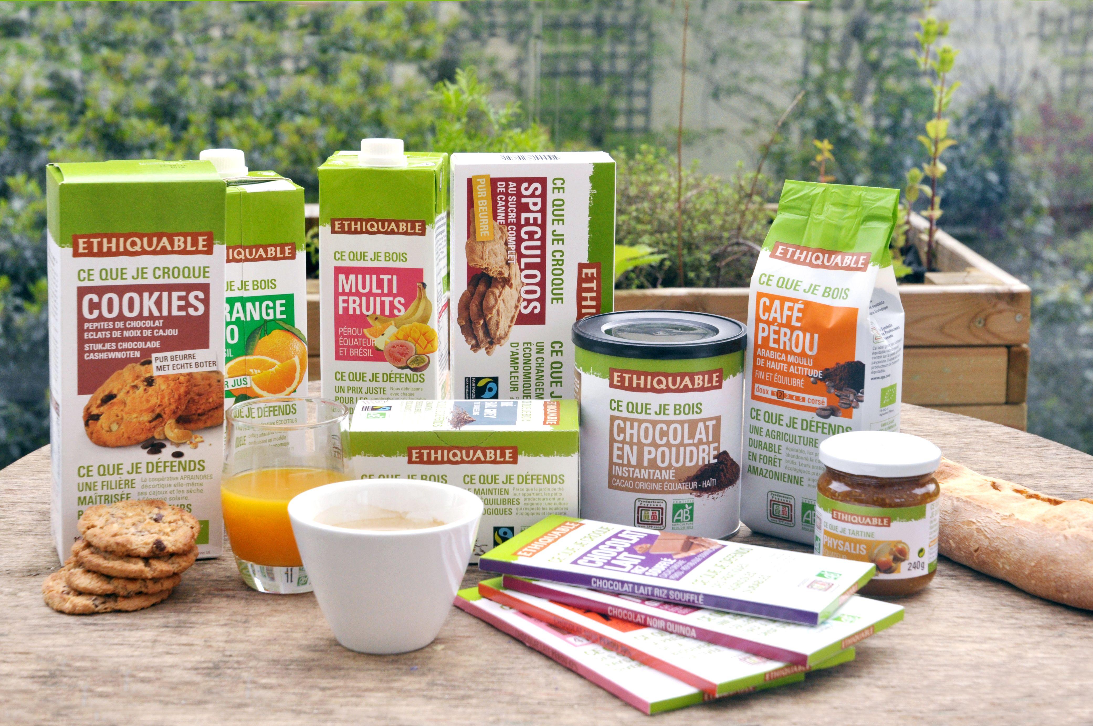 Toute une gamme de produits pour le petit-déjeuner ...