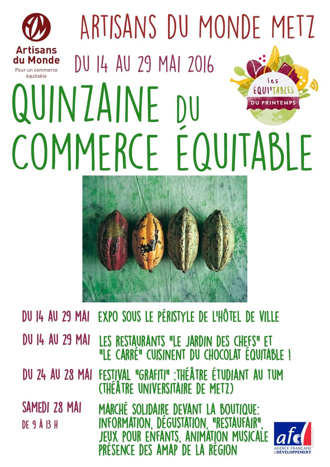 Metz 16ème édition de la Quinzaine du Commerce Equitable du ...