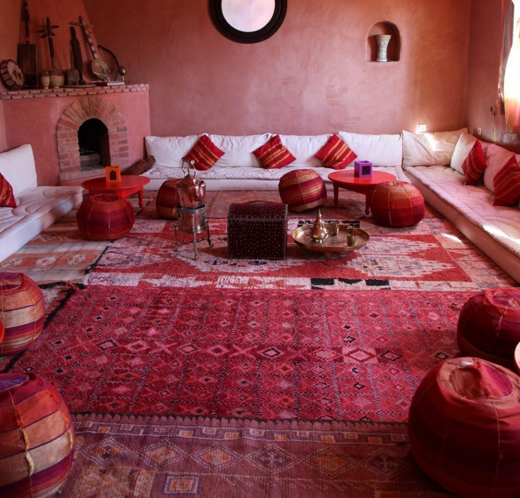 Pouf marocain fait main et 100% Sabra – Africa Noor Store