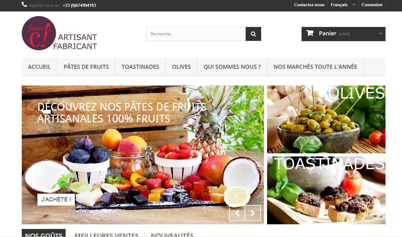 Fabricant artisan de pâtes de fruit: Façon C   Agence de création ...