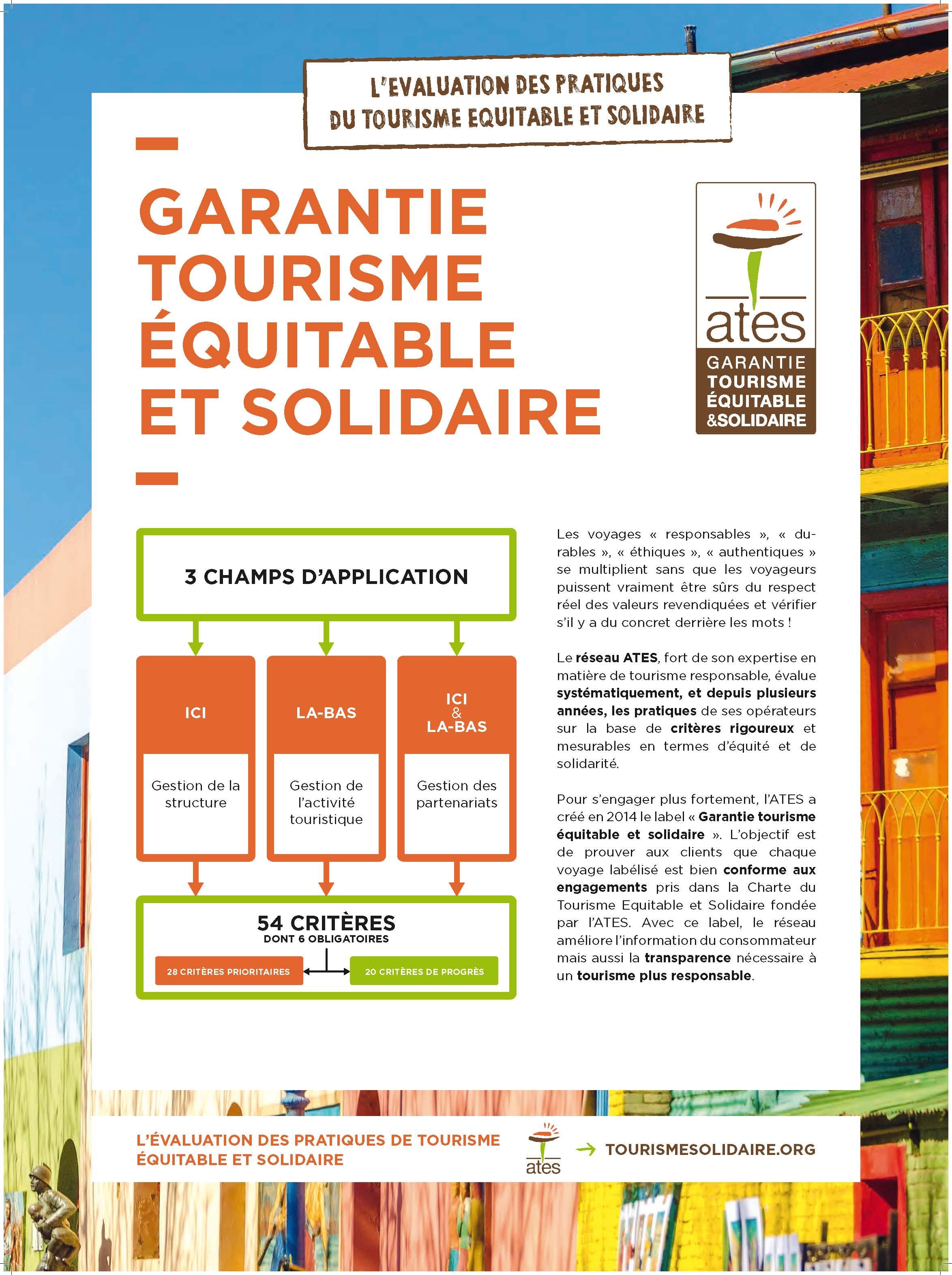 Presentation du label | Tourisme Equitable et Solidaire