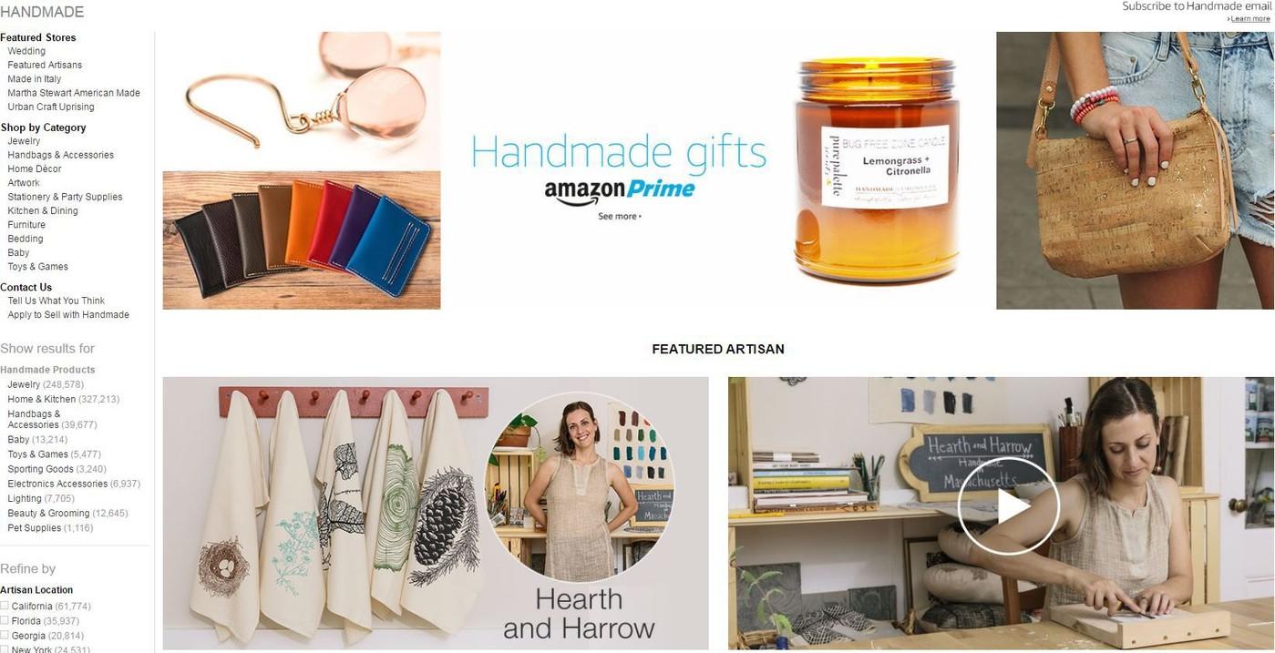 Cinq plates-formes de vente d'artisanat en ligne